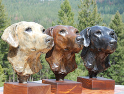 Click here for a larger image of this labrador retriever sculpture and more details