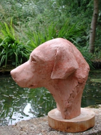 Man's best friend - bust of a labrador - click on image for larger views