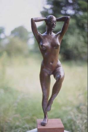 Front view of Dancer sculpture maquette