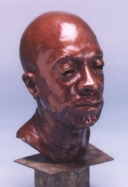Isaac Hayes - Lifesize Bronze for 20 Heads of the Year 2000 project - click here for larger version