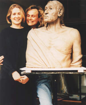 The first sculpture created by (then) student Clemency Scarfe Beckett