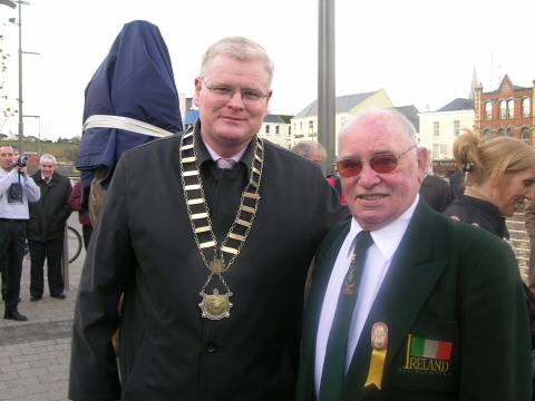 The mayor of Drogheda and Olympic boxing champion Tony Byrne at the opening ceremony