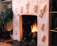 Custom fireplace with faces - Commission your own!