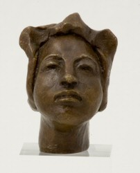 Miniature bronze bust of one of my original Artists of the Silk Road series