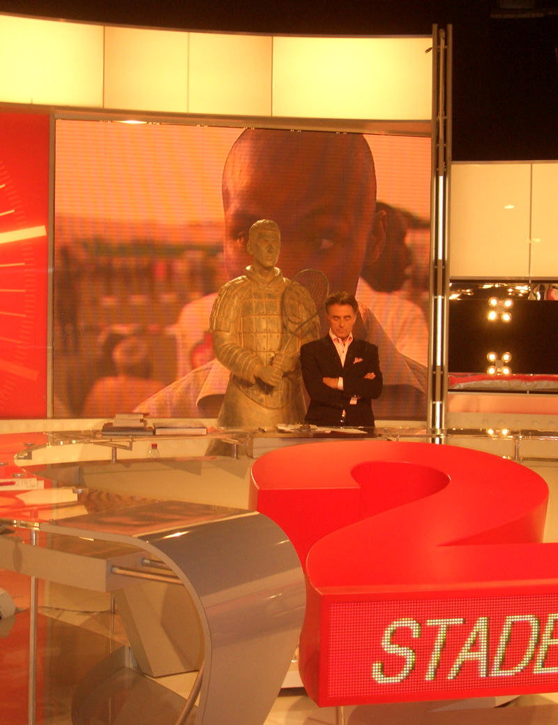 Qualified for Master Cup Shanghai 2007 Novak Djokovic, interviewed by Stade 2 on France 2 French TV channel - television francaise